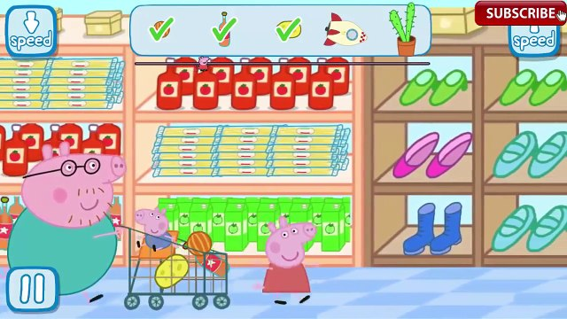 Peppa Pig Grocery Shopping Daddy Pig With George Go Shopping | Peppa in the Supermarket