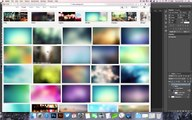 Photoshop Tutorial - Editable and Scalable Blurred Background