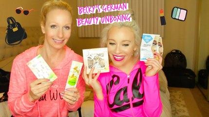 Rachel Unboxes Becky's German Beauty Box! | MissYarmosh