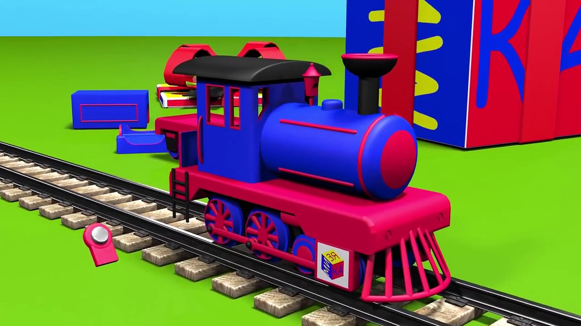 ChuChu TV|Trains for children kids toddlers.Construction game: steam locomotive. Education