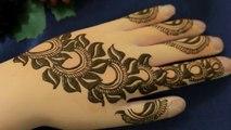 Mehndi design tutorial For Beginners - Henna Mehndi Designs For Hands-Easy Unique Mehendi Art -Leafy Flower