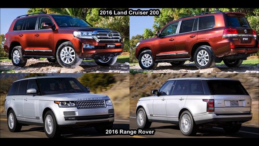 2016 Range Rover Vs 2016 Toyota Land Cruiser 200 - Design!