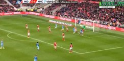 Yaya Toure Header Chance - Middlesbrough vs Manchester City - FA Cup - 11/03/2017