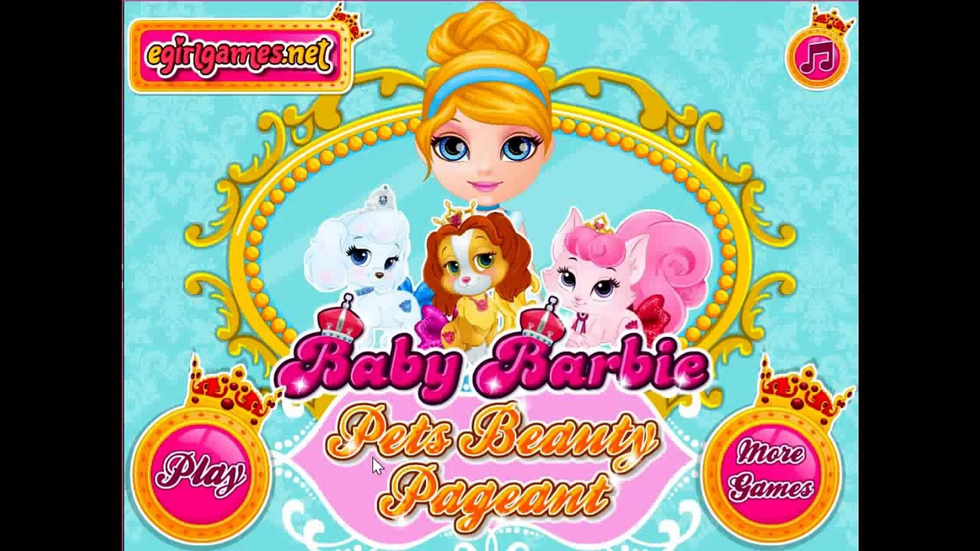 Baby Barbie Pets Beauty Pageant Disney Princess Belle, Aurora & Cinderella Palace Pet Care