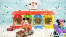 Tayo the Little Bus Garage with Disney Mickey Pixar Cars Learn Colors