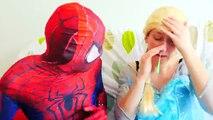 Spiderman vs Frozen Elsa is Sick w/ Booger in Real Life! Superhero ft Hulk, Shark, Super S
