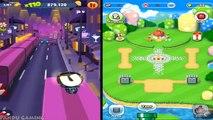 Super Mario Run Vs Talking Tom Gold Run | Mario World Boss #2