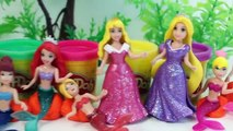 Play Doh Mermaids Frozen Mermaid Rapunzel Belle Cinderella Magiclip Dolls Disney Princess Videos