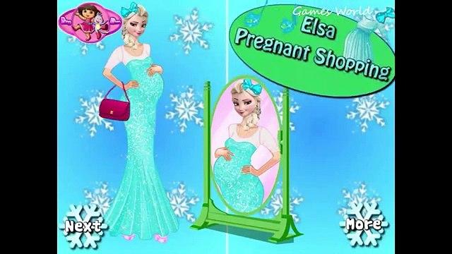 Pregnant Princess Elsa & Anna Shopping - Disney Princess Games