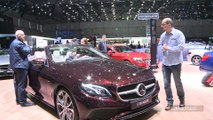 Mercedes Classe E Cabriolet : sexy - En direct du salon de Genève 2017