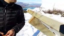 Des touristes voient une avalanche de près (Chili)