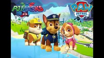 PJ MASKS - PAW PATROL Transformation I Catboy, Owlette and Gekko Turns to Skye, Rubble, Chase.