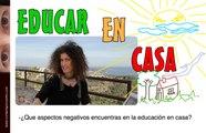 Educar sin Escuela: Aspectos negativos de la educación en el hogar
