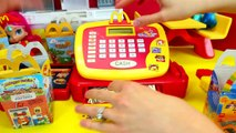 MCDONALDS HAMBURGER MAKER & Happy Meal Magic McDonalds Cash Register Toys for Kids Prete