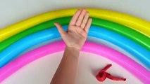Arco iris de Colores de los Globos de compilación | Aprender los Colores de la colección | Dedo Globos de Vivero Rh