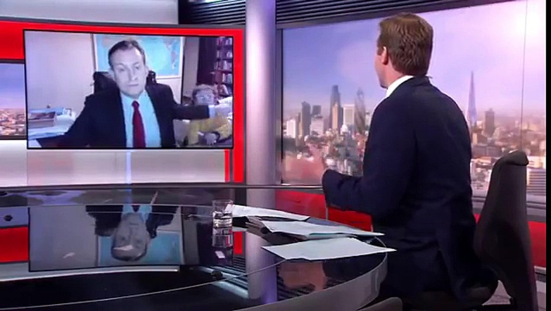 Kids Video Bomb BBC News Interview - BBC News Blooper