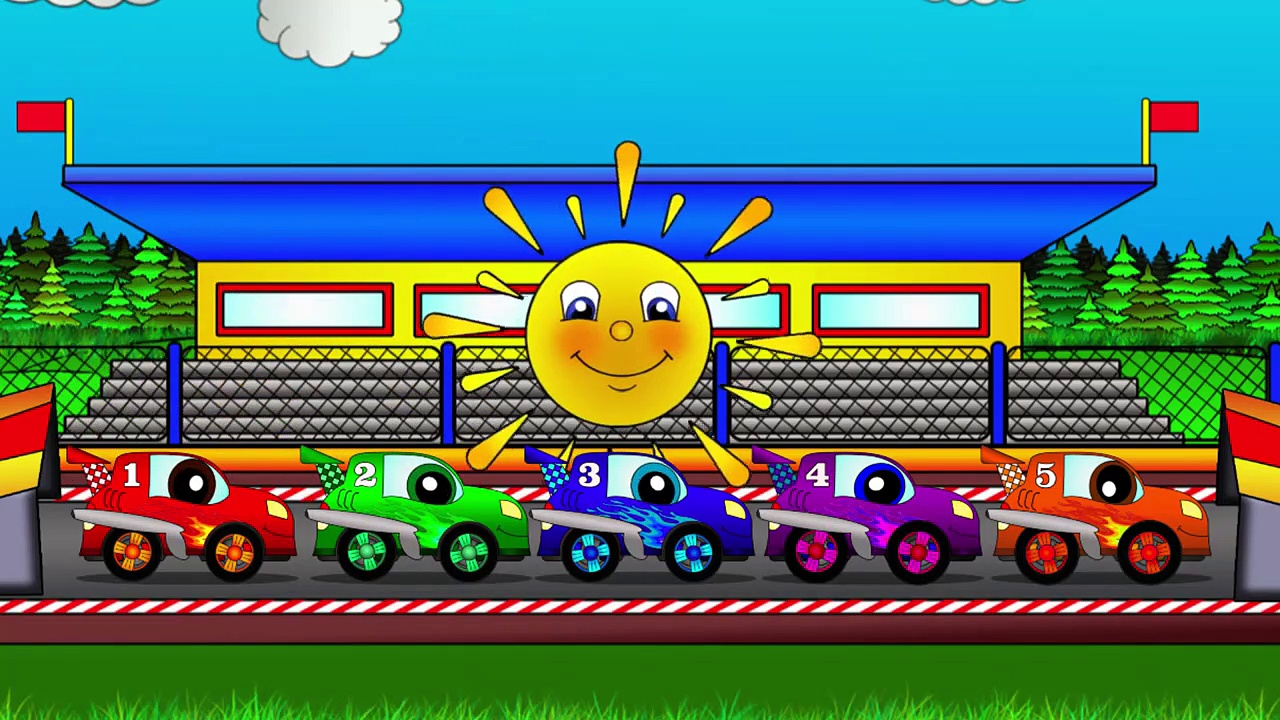 Cars with  Helpy the truck. Cars racing car