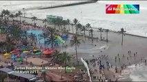 D'énormes vagues attaquent la ville de Durban en afrique du sud !