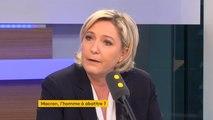 Marine Le Pen prête à débattre avec Emmanuel Macron, mais «pas sur BFM Macron»