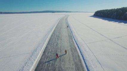 Skating in southern Dalarna