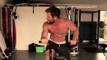 Chris Hemsworth s'entraîne dur pour son rôle dans Thor