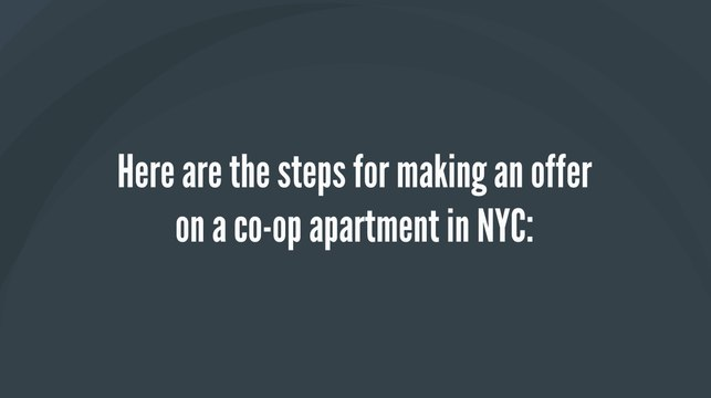 How to Make an Offer on a Co-op Apartment in NYC - Steps For Making an Offer on a NYC Co-op