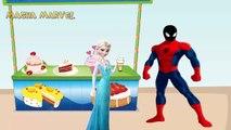 Masha giving ice cream Spiderman and Elsa, PJ Masks Catboy Owlette and Dora Masha and the