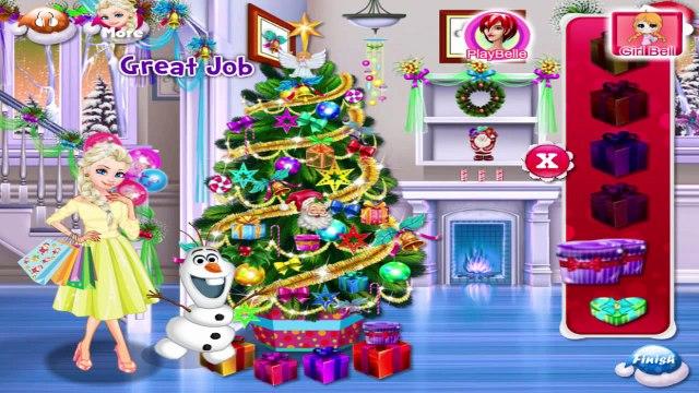 Frozen Princess Elsa Holidays Shopping - Disney Princess Christmas Games For Kids