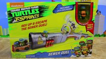 Ninja Turtles New T-Sprints SEWER DUEL Playset Mad Motion Mikey, Leo, Donnie & Raph Racing