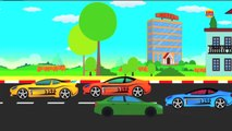 Police Car Chase with Racing Cars Cartoon for children & kids 3D Animation - Cars & Truck
