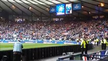 Rangers - Celtic trouble before game , tifo and ambiance Glasgow old firm Hampden Park