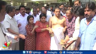 Tollywood celebs and politicians pay last respect to Dil Raju's wife Anitha