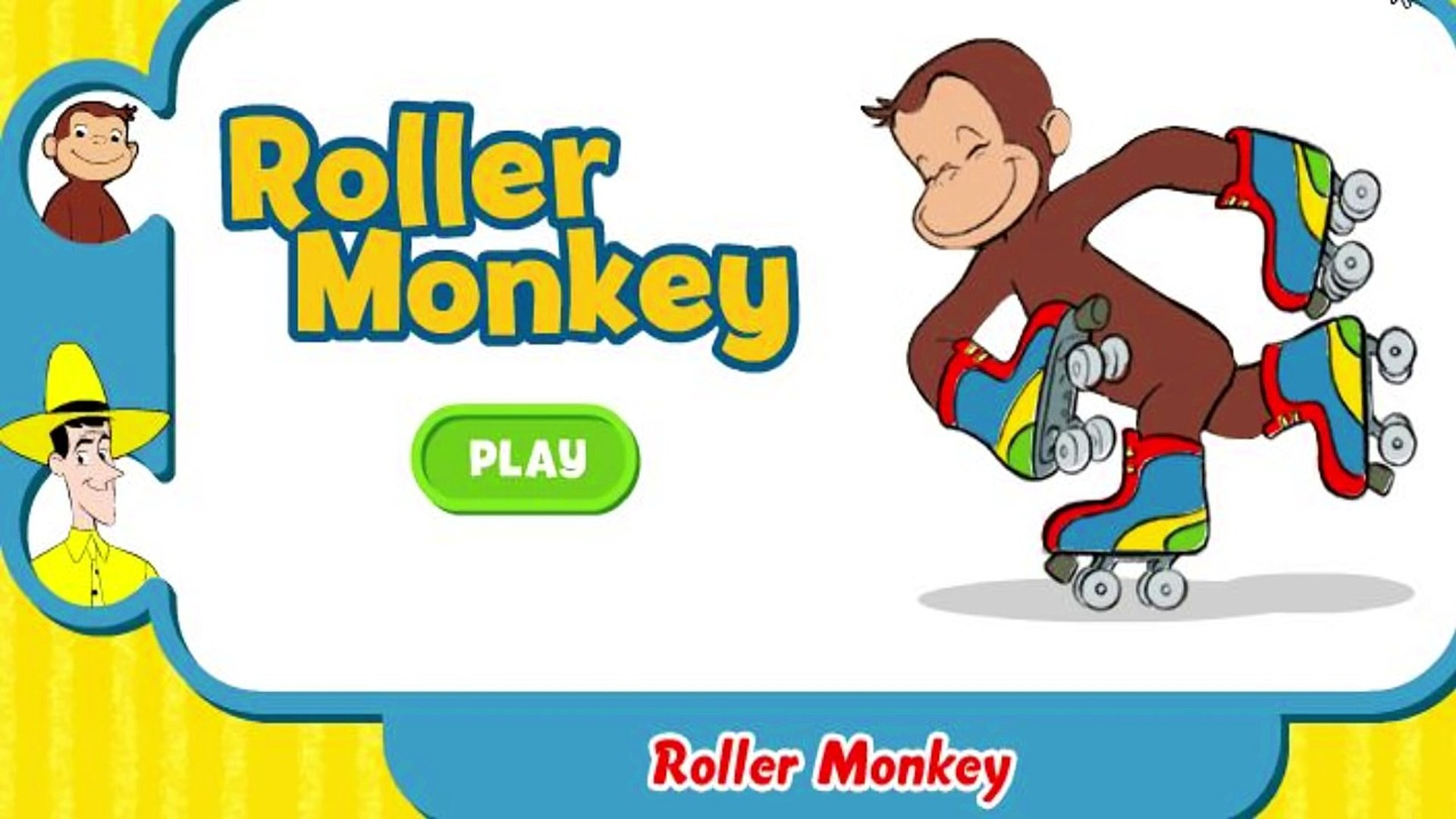 Curious George Roller Monkey For Kids Education Games Video