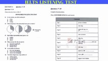 Ielts listening practice test | Cambridge IELTS Trainer | Test 1