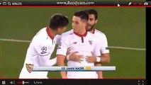 Carton rouge Samir Nasri  lors Leicester- Sevilla 14.03.2017 HD