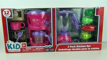 Toy Kitchen Set – Cooking Playset for Kids - Toy Food Kitchen Blender Mixer & Coffee Machi