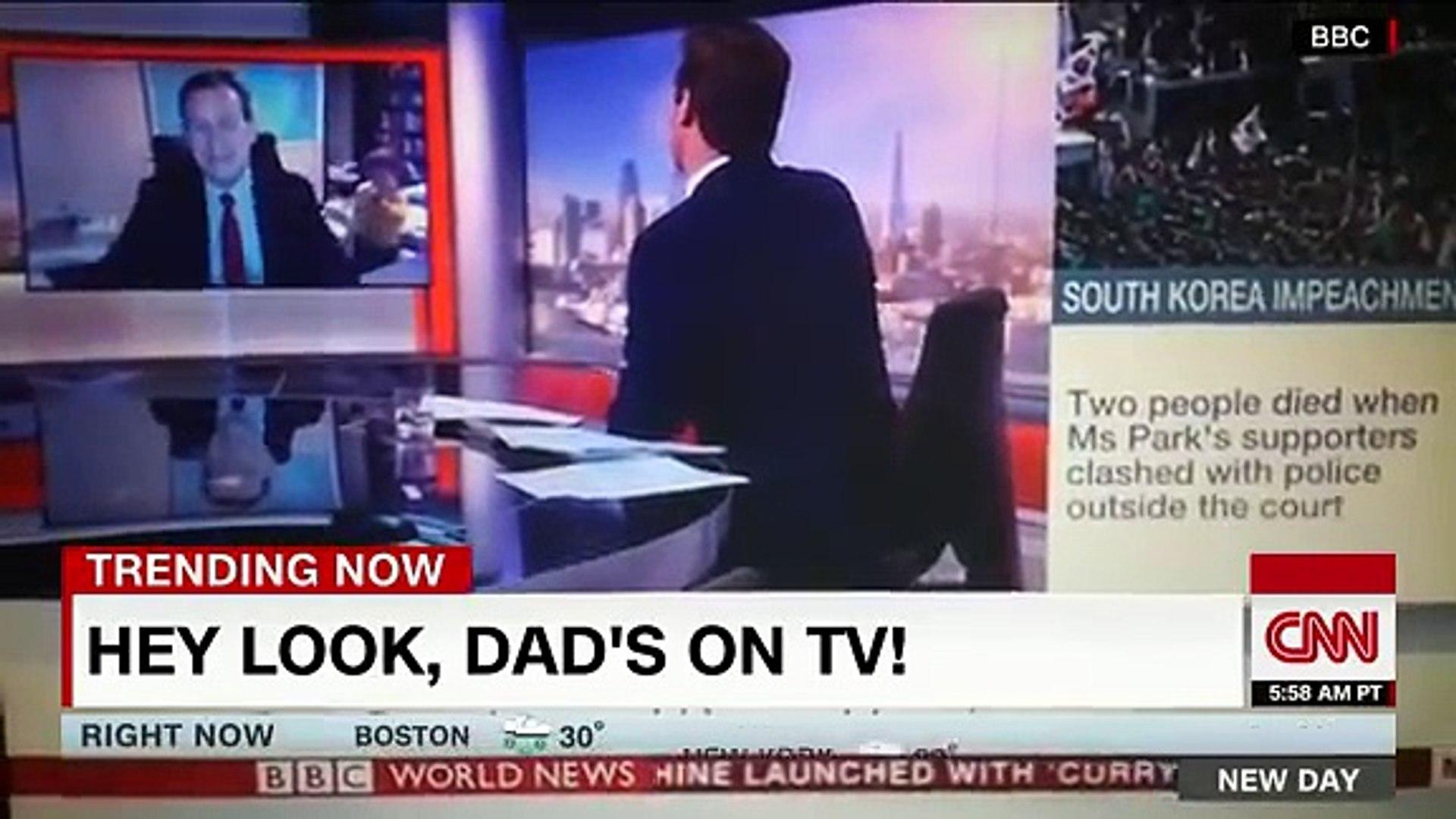 Kids interrupt dad's live TV interview -