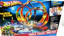 Hot Wheels Bahn Triple Track Twister Crash! Angry Birds Muscle Car (review + crash) App [d