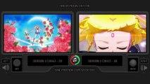 2D vs 3D - Sailor Moon Crystal (All Transformations 3D vs 2D) Side by Side Comparison