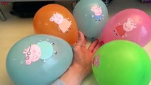 5 Wet Colours Face Balloons - Learn Colours Water Balloon Finger Family Nursery Rhymes Compilation