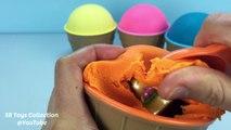 Play Doh Ice Cream Surprise Toys Disney Princess Playdough Modelling Clay Fun and Creative