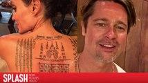 Angelina Jolie und Brad Pitt benutzten die gleiche Tattoofarbe