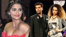 Sonam Kapoor On Nepotism, Supports Karan Johar | Kangana Ranaut Karan Johar Controversy