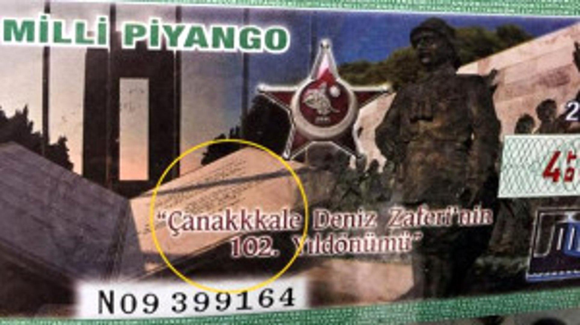 1 Milyon Milli Piyango Biletinde Skandal Hata! Çanakkale Yazısını Yanlış Yazdılar