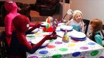 Frozen Elsa vs Frozen Anna Pie fight challenge! Maleficent pranks disney princesses in rea