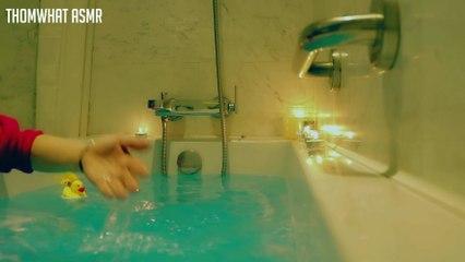 Korean ASMR Relaxing Water Sound & Bath bomb (Binaural Soft spoken) 욕조에서 편안하게 버블 배스밤 힐링타임