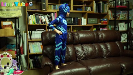 PJ Masks Catboy Gekko Owlette Hero Costume 라임의 출동파자마삼총사 캣보이 도마배미 올빼미아로 변신 영웅놀이 LimeTube & Toy 라임튜브