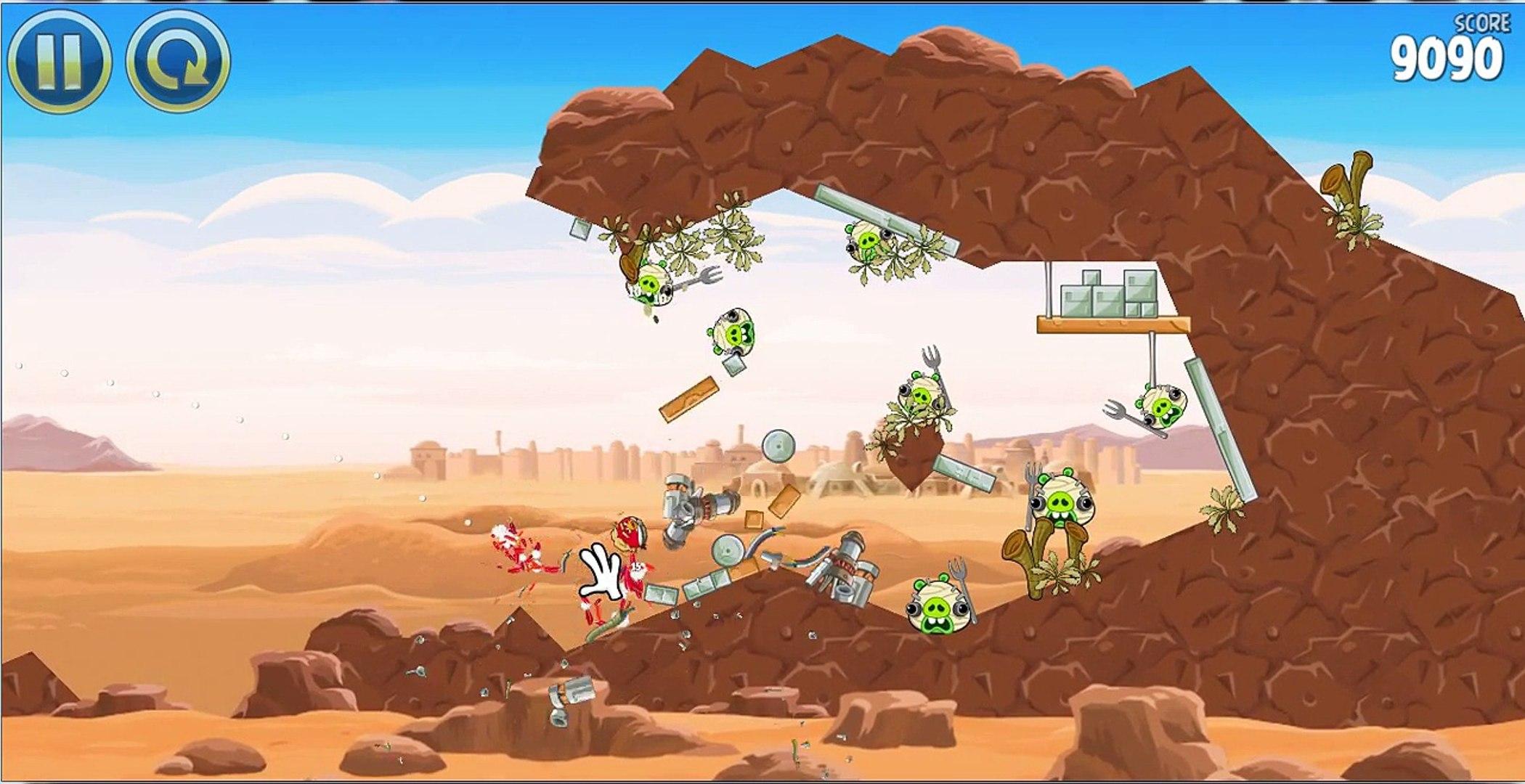 Видео для детей: Папа Роб и Ярик! Angry Birds - Star Wars (Энгри Бердз Стар Варс). Звездны