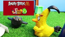 Angry Birds Movie Toys ~ PIGS STEAL EGGS Surprise Super Attack! McDonalds Happy
