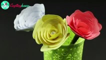 How to Make Paper Flowers  Rolled Paper Roses DIrheb